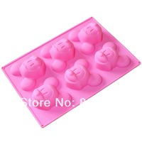 Free Shipping 1 pc link Mickey Mouse Shape 20.5 x 14.5 x 3.5cm Silicone Mould Chocolate Cake Reusable Baking Ice Icing Cupcake