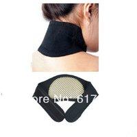 Black Self Heating Neck Wrap Heat Relief Collar Strain Brace Support Strap Pain