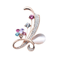 Free shipping 18k gold plated gift brooches for women brooches crystal new in jewelry DTBr009