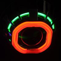 AES G1C hid bi-xenon square double angeleye projector lens kit, h4 h7 bi-xenon light