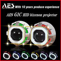 AES G1C hid bi-xenon square double angeleye  Bi-xenon hid lamp