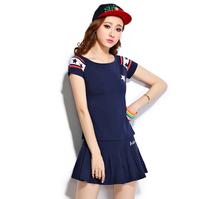 2014 summer casual set women's fashion short skirt sportswear summer Women sports set
