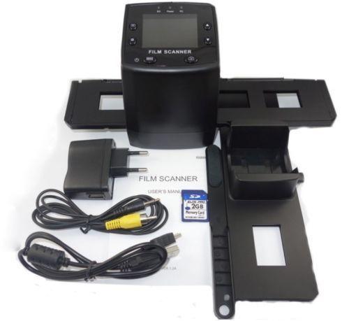 High Resolution 5MP 35mm Negative Film&Slide Scanner Photo Scanner 2.4TFT LCD SD slot USB TV free shipping(China (Mainland))
