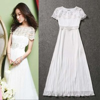 Lovable Secret - Fashion summer women's 2014 organza embroidered patchwork slim one-piece dress full dress  free shipping