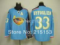 Free Shipping Authentic Atlanta Thrashers Men's Ice Hockey Jerseys #33 Byfuglien Blue Jersey China Cheap Embroidery Logos