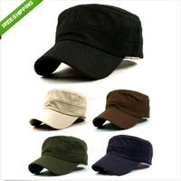 1PC Stylish Plain Men's Military Army Cap Castro Cadet Patrol Cap Hat Adjustable Summer Women&Men Fashion Sunhat AY671111