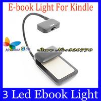 1Pcs!! New 3 Led Ebook Light Mini Lamps For Amazon Kindle Ebook Book/Tablet Night Black/White Led Lamp For Reading-Dropshipping