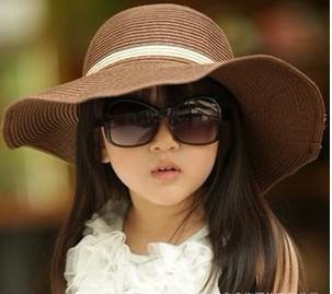 Children Sun Hat Child Girl Beach Hat Baby Caps Kids Straw Hats Children Summer Hat(China (Mainland))