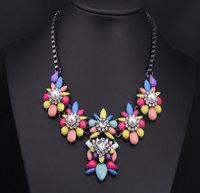 2014 Fashion Necklace & Pendant Chunky Choker Statement  Fashion Gem  Pearl Rhinestone Necklace Women