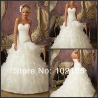 New Arrival Dress Style Diamante Beaded on Ruffled Organza Designer Wedding Dress U15