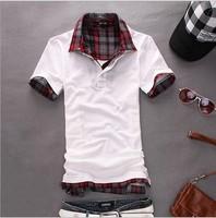2014 Italian Businessman Hitz Fashionable Formal Shirts With Short Sleeves Free Drop Shipping