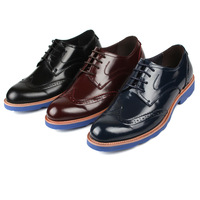 New Men's dress formal Round toe wedding party lace up casual leather shoes Eur size 37 to 44 Retail/wholesale Free shipping
