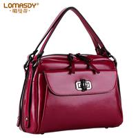Fashionable casual women's handbag one shoulder cross-body handbag 2014 color block oil small cowhide bag