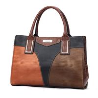 Tosoco women's fashion handbag 2014 patchwork bag color block bag shaping messenger bag handbag
