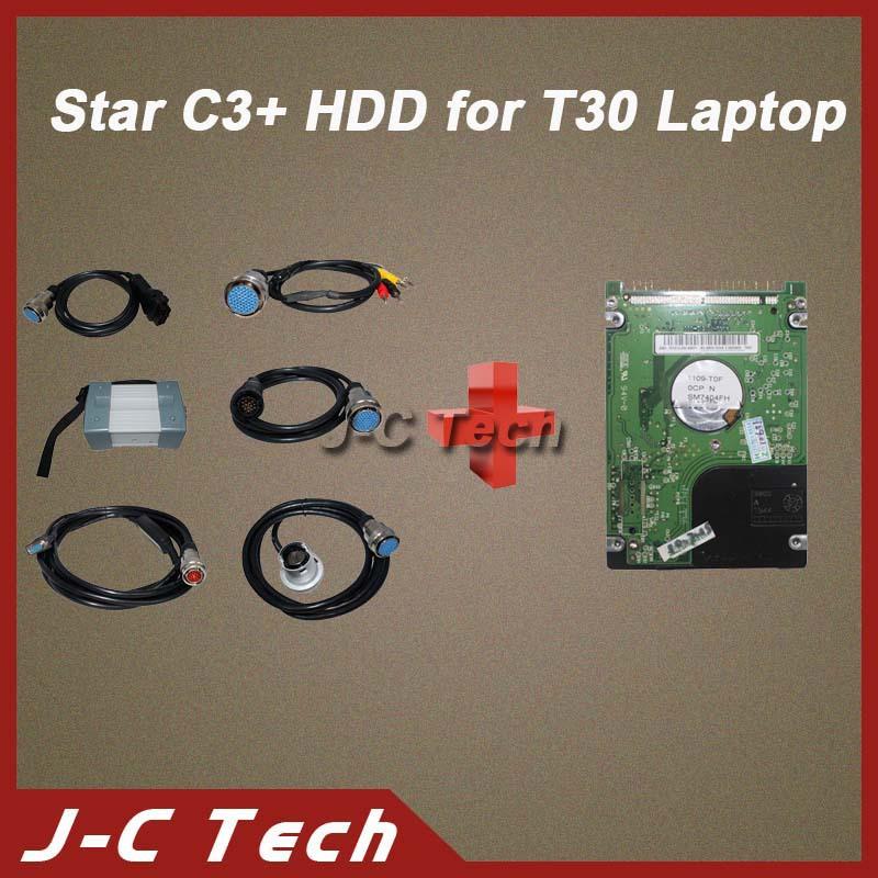 Sterne c3 neue Version multi- Sprache diagnosetool volle kabel sets+t30 hdd gehören 2014r5 Version Software für sterne c3