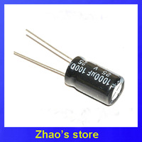 100pcs electrolytic capacitor 25v 1000uf  10mm*17mm Free shipping
