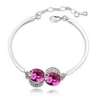 Female fashion accessories austria crystal bracelet - -