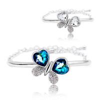 Crystal accessories full rhinestone butterfly austria crystal bracelet