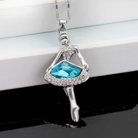 Austria crystal pendant female ballet girl necklace