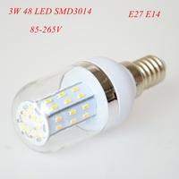 2pc/lot High Power 3W E27 E14 3014 SMD 48 LED Corn Bulbs AC85-265V Warm White/ White Super Bright