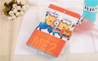 Free Shipping cute Despicable ME Cartoon Case For Universal 7 inch Tablet & Stand Cover For Samsung/Pipo 7inch