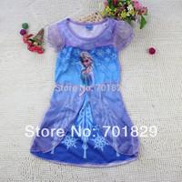 2014 fashion summer children princess dress Frozen Girl Print Dress Brand Elsa Anna Princess Party girls Tutu Dress 60PCS/Lot