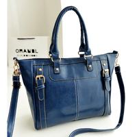 2014 new bags fashion women vintage motorcycle bag pu leather handbag messenger bag shoulder bag big totes