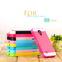 New fashion South Korea Double color cute TPU silicone case hard cover for Samsung galaxy i9190 / GALAXY S4 Mini phone shell