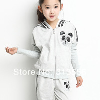 2014 RCH new children girl suit  100%cotton  children clothes manufacturer/  Gray Red Blue