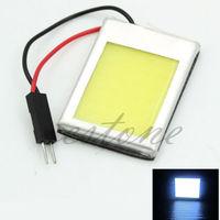 8W Aluminum T10 Dome Festoon Car Interior License Plate COB LED Lamps Light
