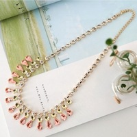 Fashion oval drop element fashion gentlewomen rhinestone chain ol