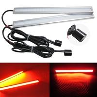 2pcs/ LOT Daytime Running Light  for Universal Cars  17CM Waterproof  IP65 Red 12V COB Auto LED Light