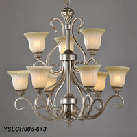 Modern beige chandelier fashion lights,YSLCH005-6+3,Free shipping