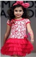 Hello kitty girl's dress baby girls cartoon brand dresses children clothing Kids girl party dress wear child girl cothes