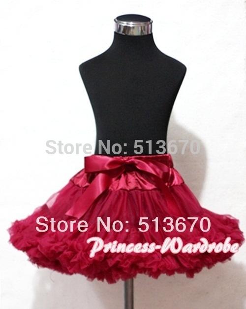 Raspberry FULL Pettiskirt Skirt Pageant Party Tutu Skirt For Adult Size AP84(Hong Kong)