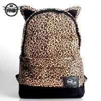 Epiphqny preppy style leopard print backpack female bag lovers double-shoulder 111 laptop bag