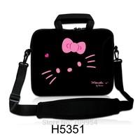 "Cute Hello Kitty Shape Neoprene Handle Laptop Shoulder Bag Cover Notebook Messenger Pouch Case For 10""13""14""15""17"" Lenovo Acer"