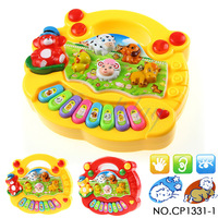 Free shipping CP1331-1 Wholesale Baby Kid's Animal Farm Mobile Piano Smart Music Toy Electric ENGLISH Early /Xmas Gift