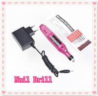 Free shipping gift idea 1 PCS Pen Shape Electric Nail Drill Machine Art Salon Manicure File Polish Tool+6 Bits EU Plug