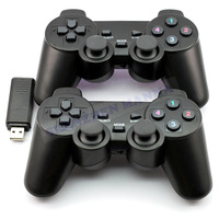 30PCS/LOT FREE SHIPPING New black USB Twins Wireless Dual Vibration Controller 2.4Ghz  Function #DW012