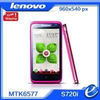 "original lenovo s720i pink white phone 1gb ram 4gb  MTK6577 Dual Core Dual Sim 1.2GHz Android 4.1 4.5"" 8.0MP Russian Language"