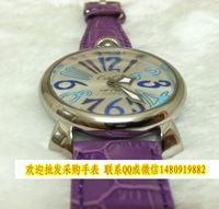 Small wooden box the trend of popular lady gaga quartz movement strap watch cowhide 1g15