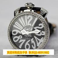 Gaga the trend of fashion watches luxury popular diamond ladies watch cowhide watchband quartz movement elegant 237 g1