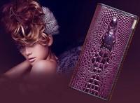 Women wallets new 2014 classic women clutch/ wallets genuine leather women leather handbags personalized crocodile embossed