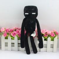 Retail  1pcs black 25cm  Genuine JJ dolls stuffed plush minecraft creeper coolie afraid of plush toys of my world