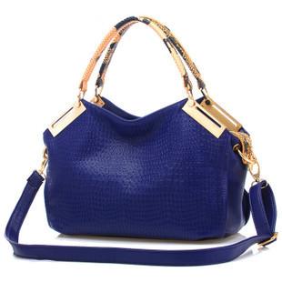 2014 fashion shoulder bag handbag crocodile pattern women's vintage big bags(China (Mainland))