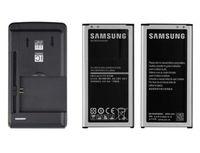 2 x 2800mAh OEM Li-ion Battery + USB Wall charger for Samsung Galaxy S5 V i9600
