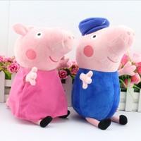 Retail  2pcs/set  30CM   Peppa pig plush Peppa and George grandpa AND grandma