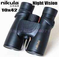 Brand NEW Original Nikula 10x42 waterproof binoculars with HD Green FMC night vision binocular telescope Free Shipping