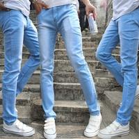 New arrival 2014 male slim pencil jeans skinny pants tianlan denim pants